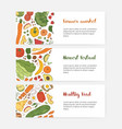 bundle web banner templates with wholesome food vector image