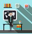 businessman - teacher in office flat design vector image vector image