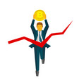 businessman with bitcoin crosses a finish line vector image vector image