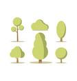 cartoon set green trees vector image vector image