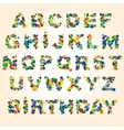 color abstract alphabet vector image vector image