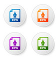 color eps file document icon download eps button vector image vector image