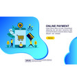 concept online payment modern conceptual for vector image
