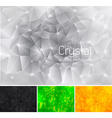 Crystal abstract background vector image vector image