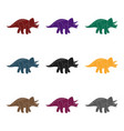 dinosaur triceratops icon in black style isolated vector image