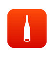 empty wine bottle icon digital red vector image vector image