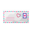 envelope with heart stamp vector image