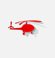 flat modern design with shadow icon helicopter vector image vector image