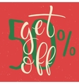 Get 50 percent Off Sale Poster vector image vector image