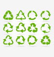 green recycle arrow icons vector image vector image
