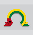 guinea-bissau flag rounded abstract background vector image