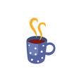 hot beverage cup flat isolated vector image vector image