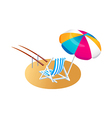 icon parasol and chair vector image vector image