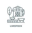livestock line icon linear concept vector image