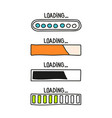 loading bar doodle icon vector image vector image