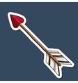 Love arrow vector image vector image