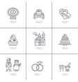Love Romance Set of linear icons vector image vector image