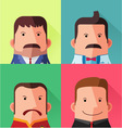 male avatar character design vector image vector image