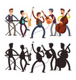 male pop music band playing music vector image
