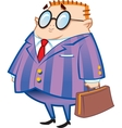 Nerdy Businessman vector image