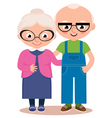 Old married couple isolated on a white background vector image