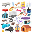 pet shop supplies dog care grooming and food vector image vector image