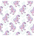 Pink reptile monster teen seamless pattern