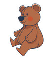 plush teddy bear toy with red cheeks vector image