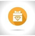 Present with diamond icon Eps10 vector image vector image