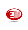 real estate logo template letter e logo vector image vector image