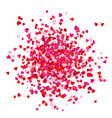 red pink and rose scatter paper hearts confetti vector image vector image