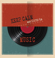 retro paper poster with vinyl disk record and vector image vector image