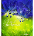 romantic background with blue flowers vector image vector image