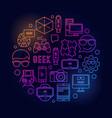 round geek bright vector image