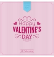 Saint Valentine Day background vector image vector image