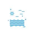 sea icon design vector image vector image