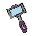selfie stick icon vector image