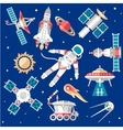 Set on Space vector image vector image