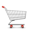 Shopping cart realistic vector image