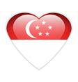 Singapore flag button vector image