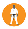 standing man in kimono - martial arts fighter vector image