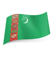 State flag of Turkmenistan vector image vector image