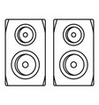 studio speakers icon outline style vector image