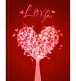 Tree in the shape of heart vector image vector image