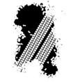 tyre tread grunge vector image vector image