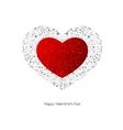 Valentines Card with heart vector image