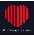 Valentines greeting card with harmonica hearts vector image