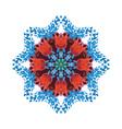 Watercolor circle ornament vector image
