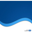 Wave template for your business presentation vector image vector image