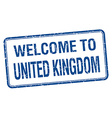 welcome to United Kingdom blue grunge square stamp vector image vector image